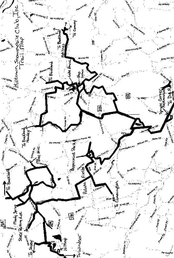 Hilltown  Snowmobiling Map