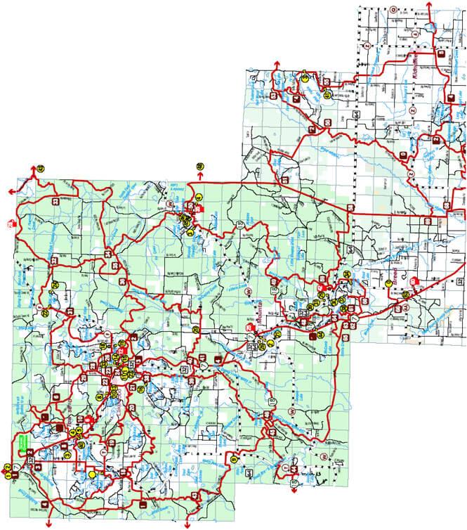 Oconto County Snowmobiling Map