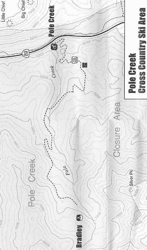 Pole Creek Cross Country Ski Area Cross Country Skiing Map