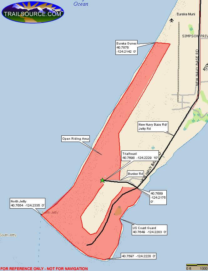Samoa Dunes Recreation Area ATV Trails Map