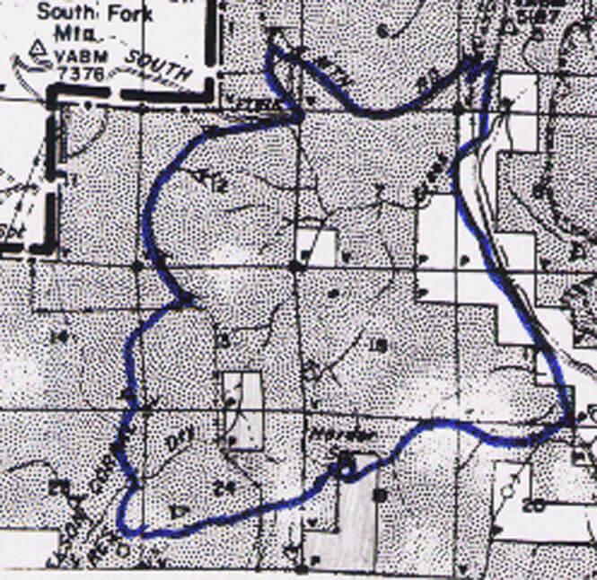 Likely Mountain Challenge Mountain Biking Map