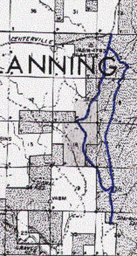 Woodland Jurassic Ride Mountain Biking Map
