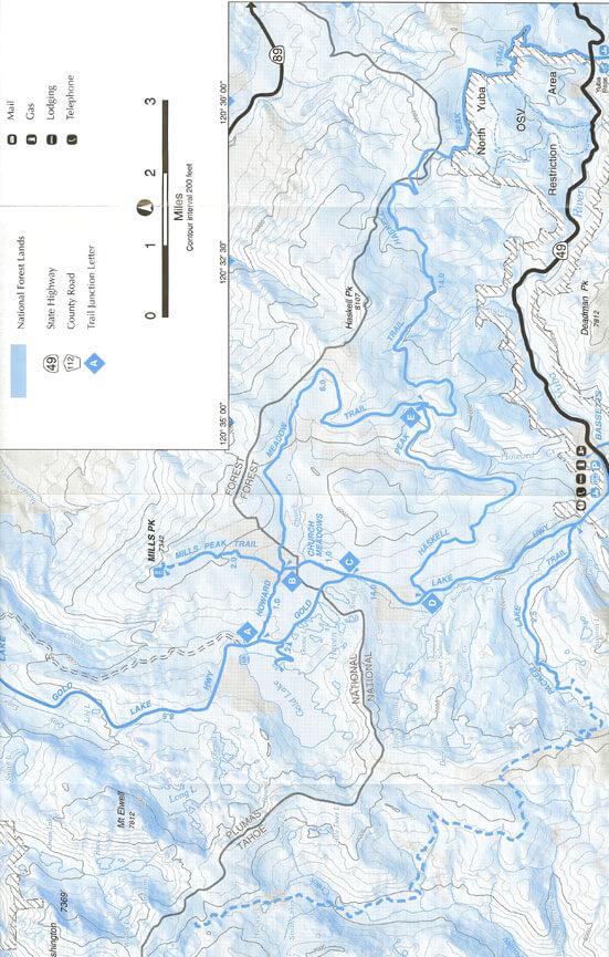 Lake Basin  Snowmobiling Map