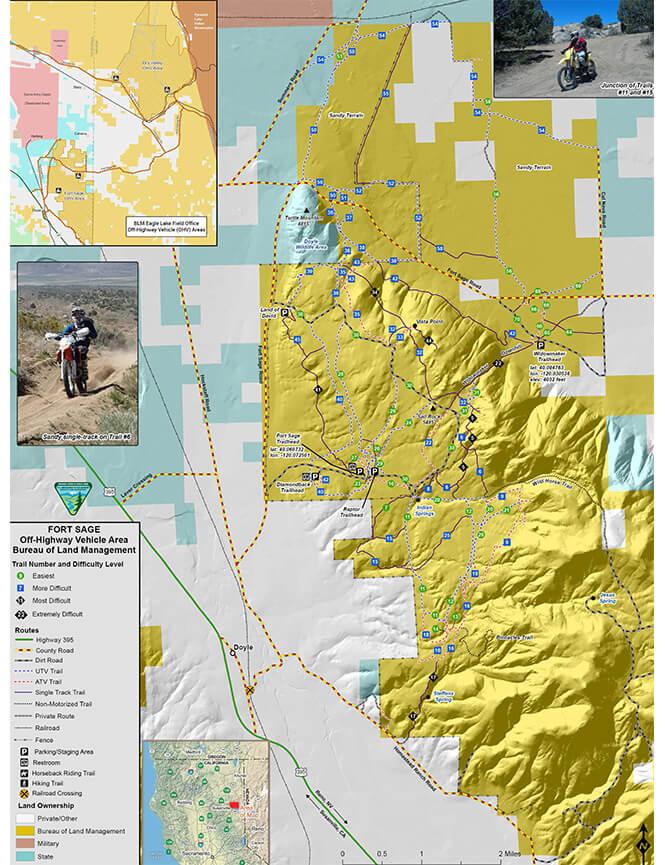 Fort Sage ORV Area Dirt Biking Map