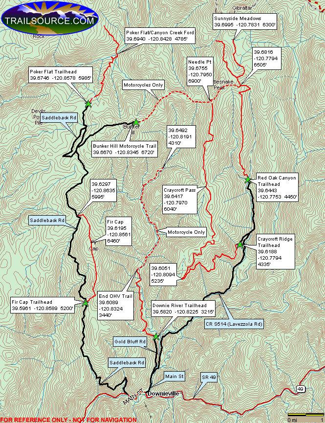 Fir Cap OHV Trail Dirt Biking Map