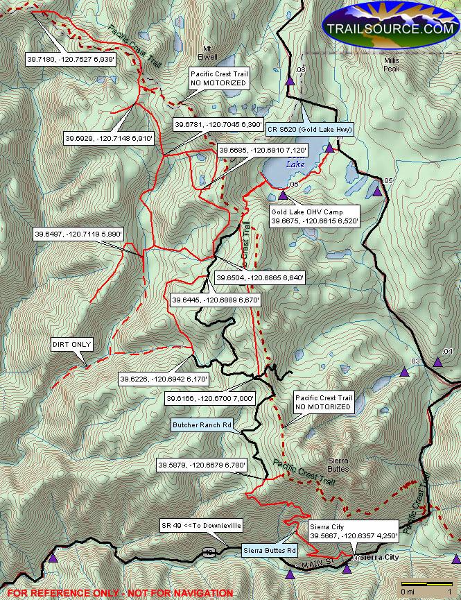 Gold Valley ORV Trail Dirt Biking Map