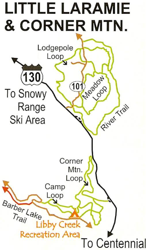 Little Laramie / Corner Mountain Cross Country Skiing Map