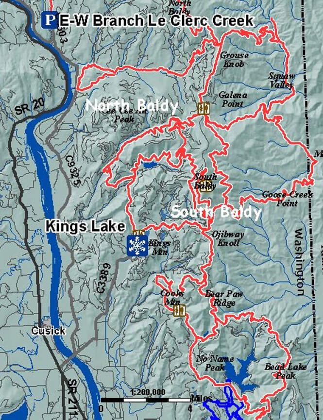 Kings Lake Snopark Snowmobiling Map