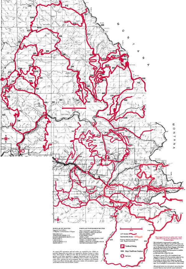 Coeur d'Alene Snowmobiling Map