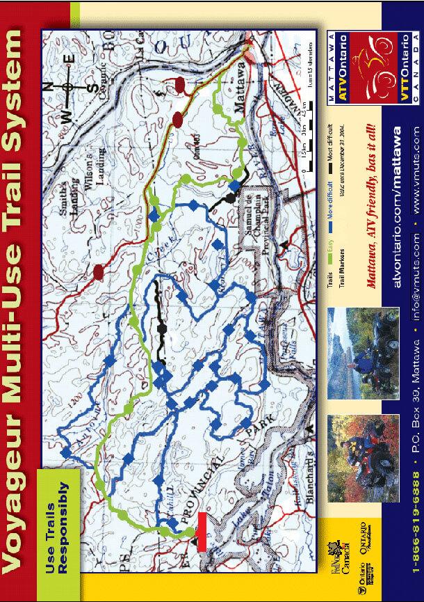 Voyageur Trail System ATV Trails Map