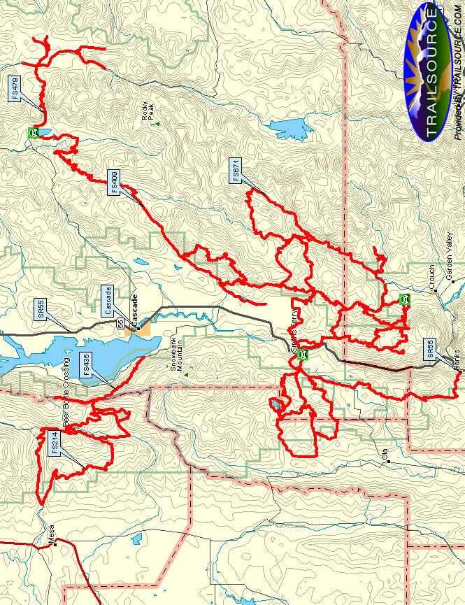 West Mountain / Cascade Snowmobiling Map
