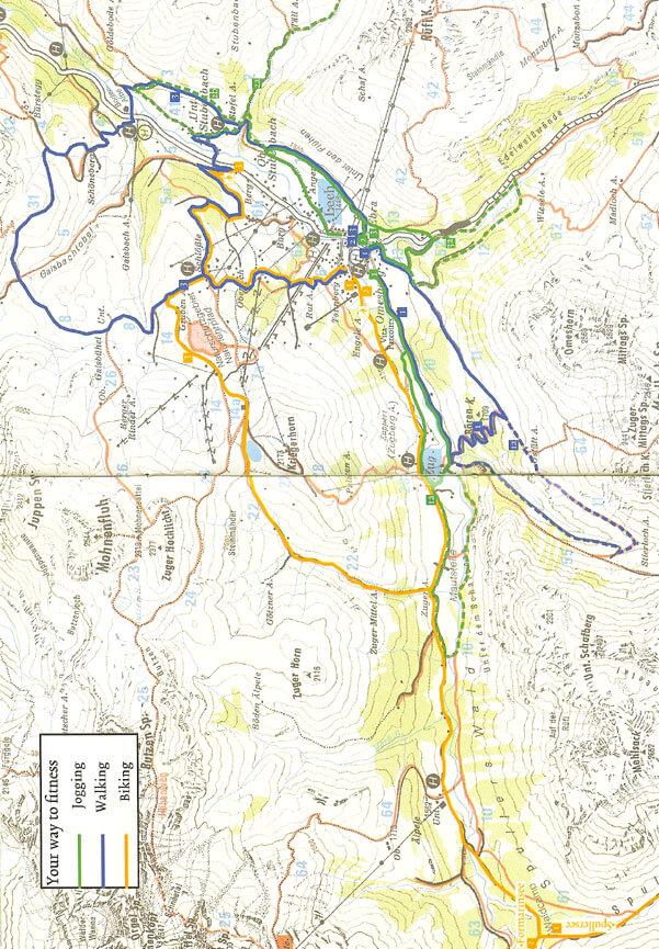 Lech / Zurs Mountain Biking Map