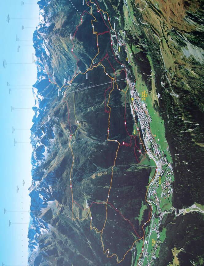 St. Anton - South Hiking Map