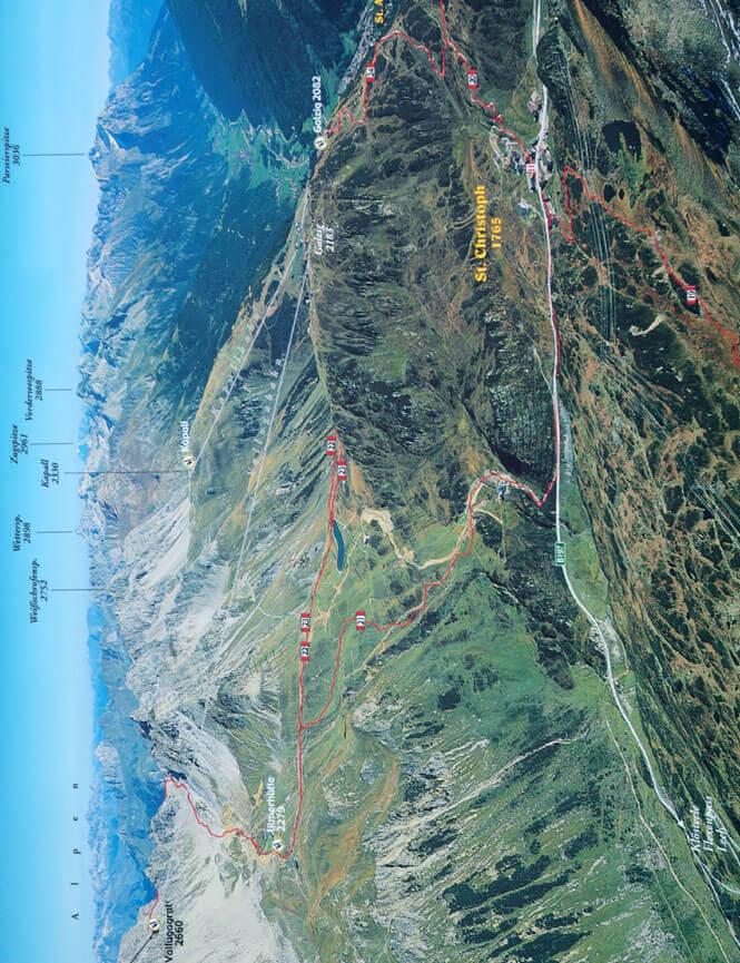 St. Christoph Hiking Map
