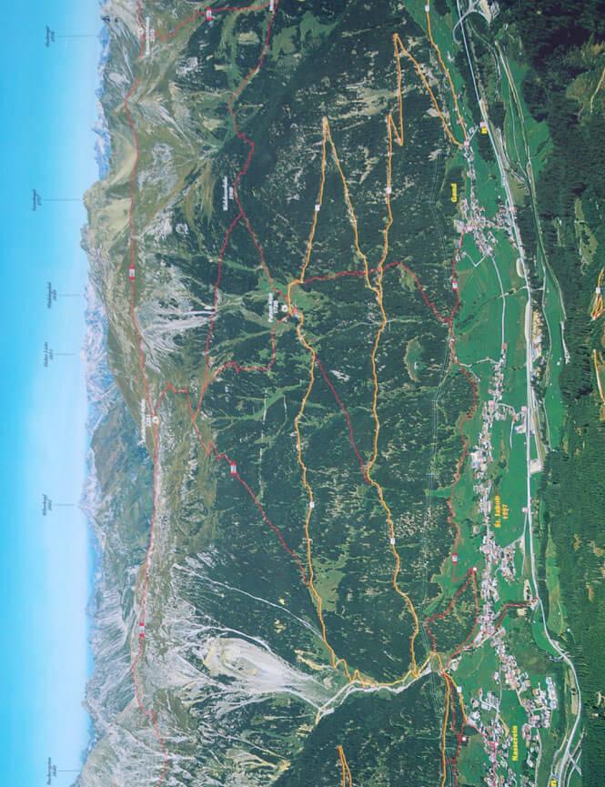 St. Jakob Hiking Map