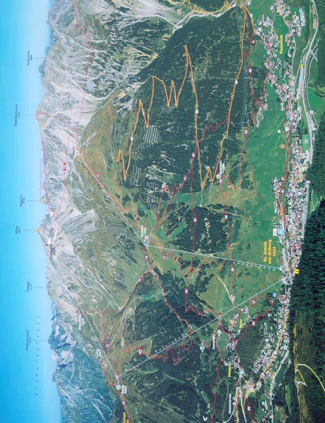 St. Anton - North Mountain Biking Map