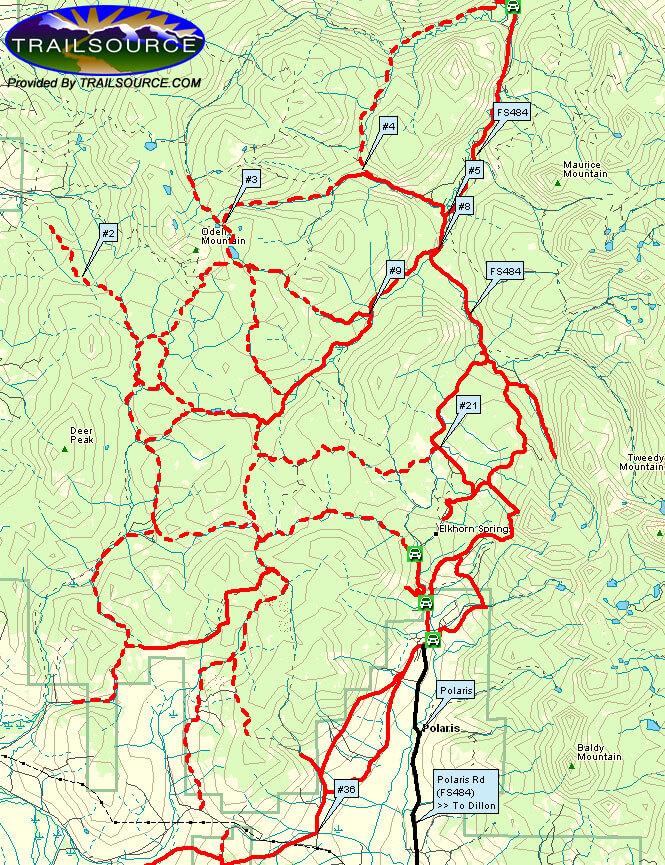 Dillon / Polaris Snowmobiling Map