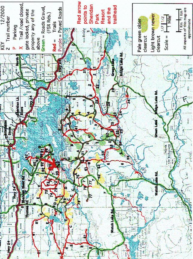 Sheridan Lake ATV Trails Map