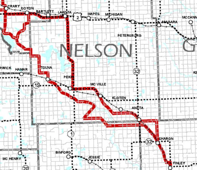 Southeast Lake Region Trail System Snowmobiling Map