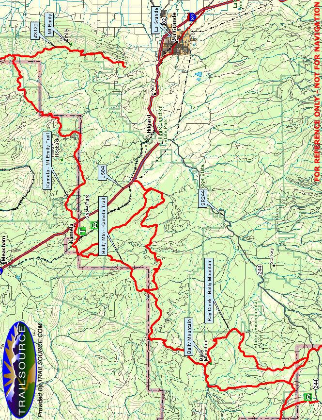 Bally Mountain Snowmobiling Map