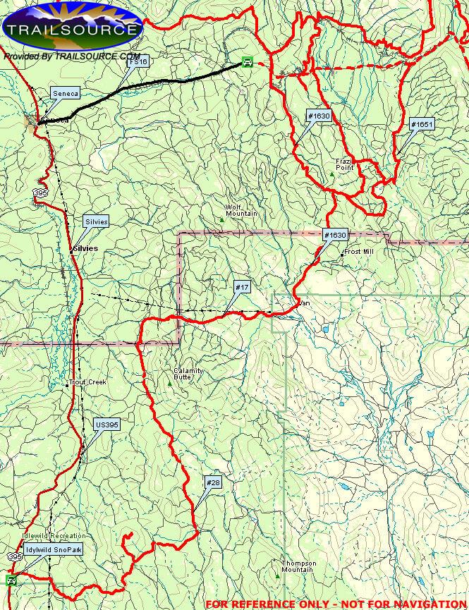 John Day South Snowmobiling Map