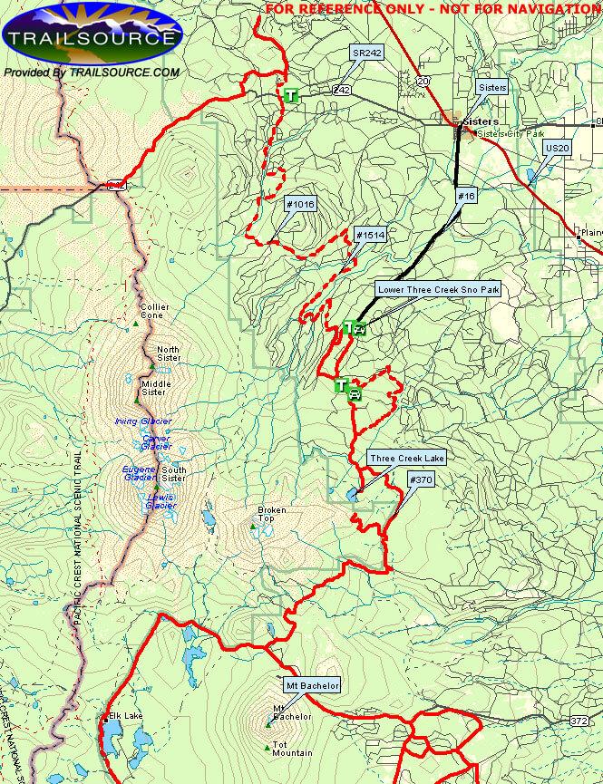 Three Creek Sno Park Snowmobiling Map