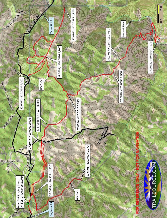Date Flat / Fuel Break Staging Area ATV Trails Map