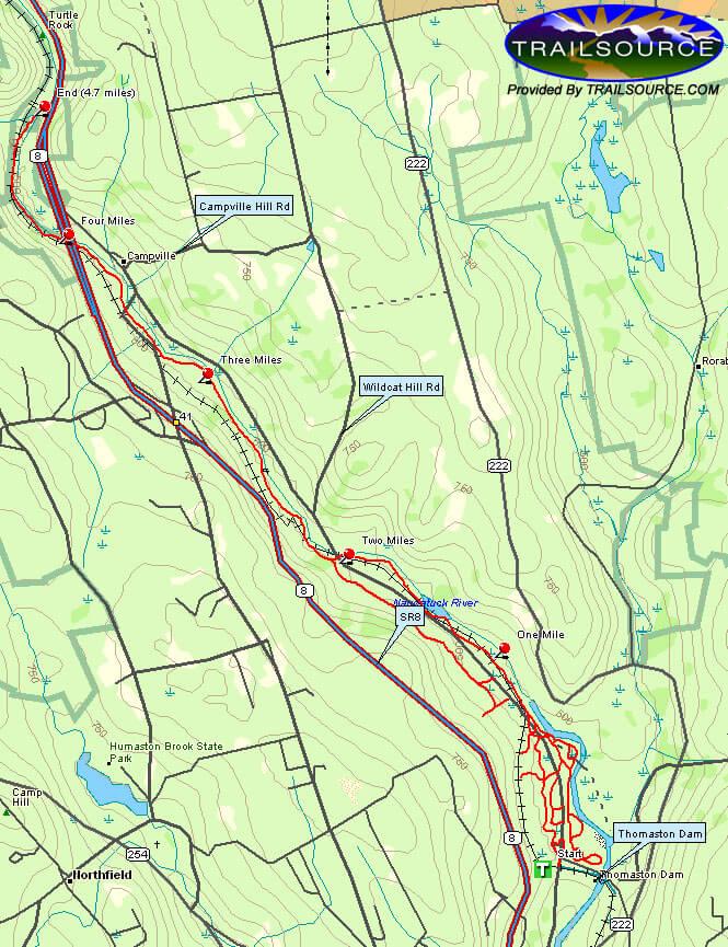 Thomaston Dam Snowmobiling Map