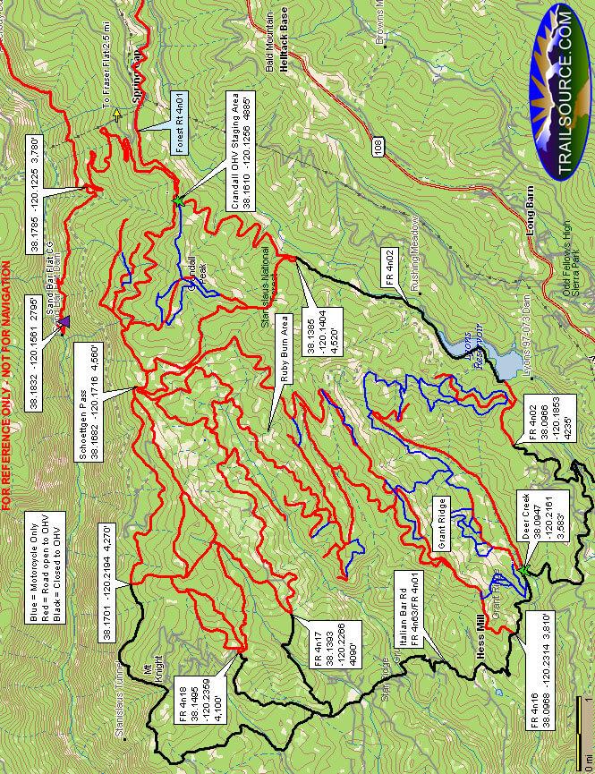 Crandall OHV Staging Area Dirt Biking Map