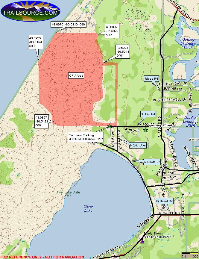 Silver Lake Dirt Biking Map
