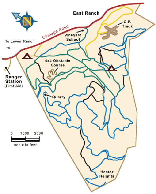 Hollister Hills Upper Ranch ATV Trails Map