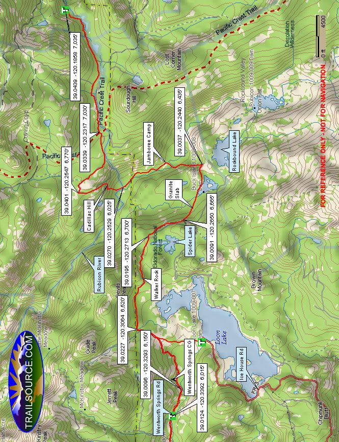 Rubicon OHV Trail Dirt Biking Map