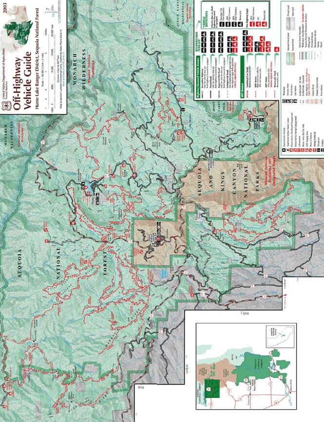 Hume Lake Dirt Biking Map