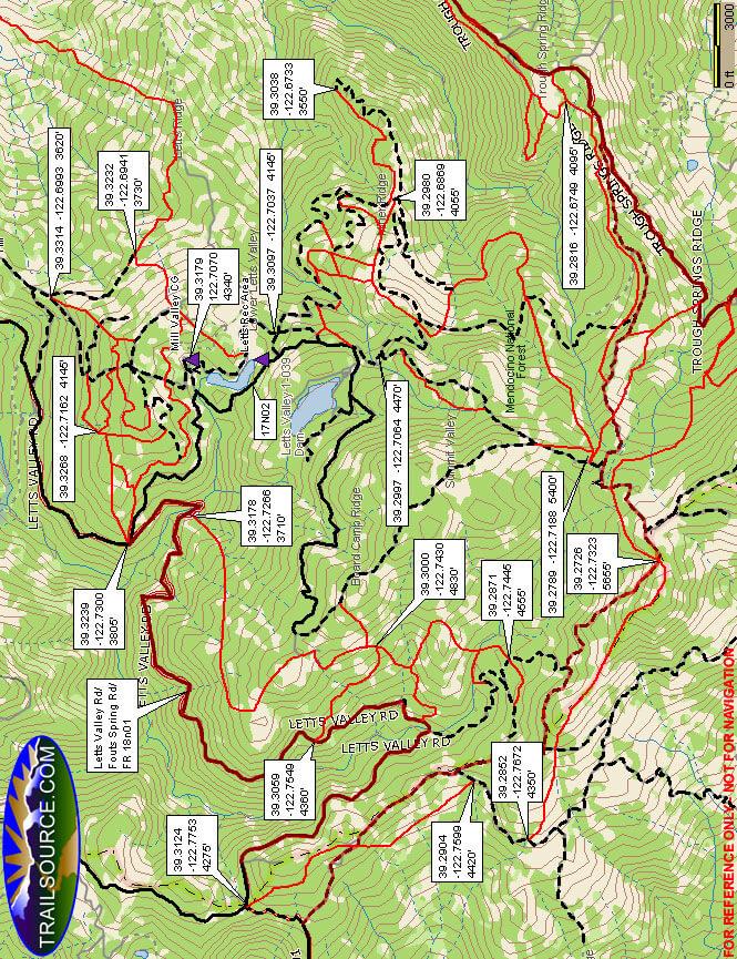 Stonyford ORV Area Dirt Biking Map