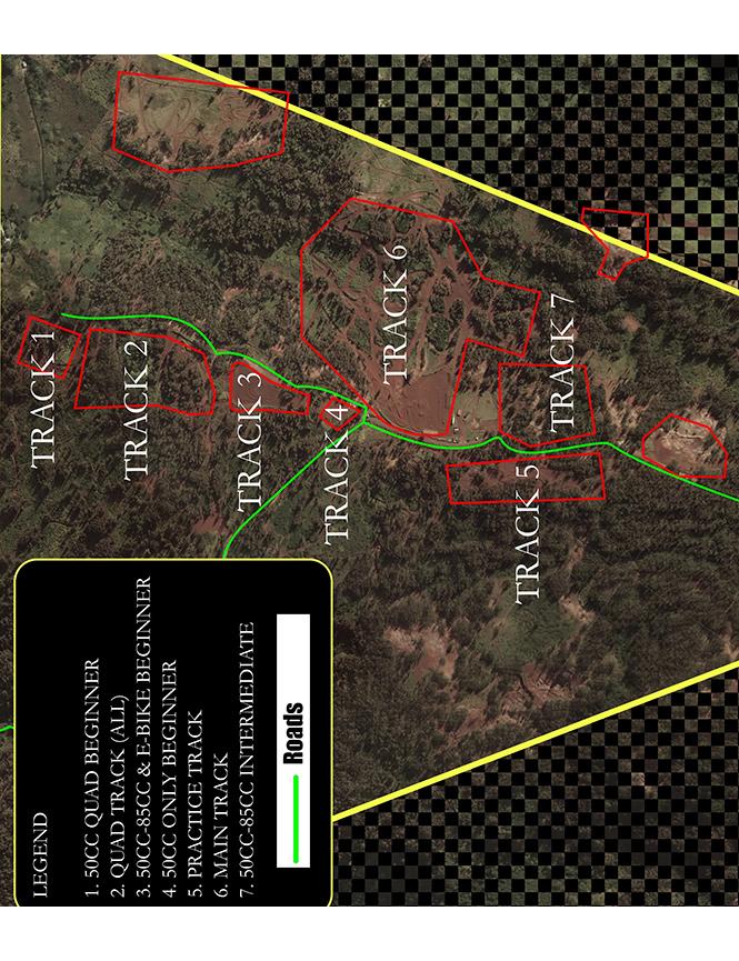 Kahuku Motocross Park Dirt Biking Map