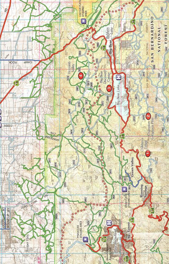 Big Bear Lake - North ATV Trails Map