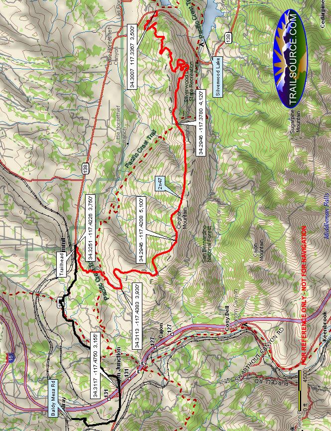 Baldy Mesa / Cleghorn Ridge / Marshall Peak Dirt Biking Map