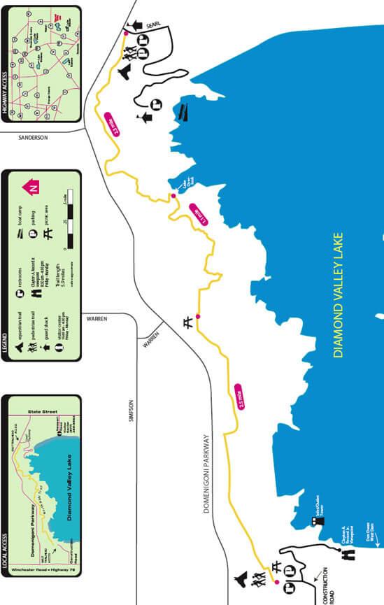 North Hills Trail Hiking Map