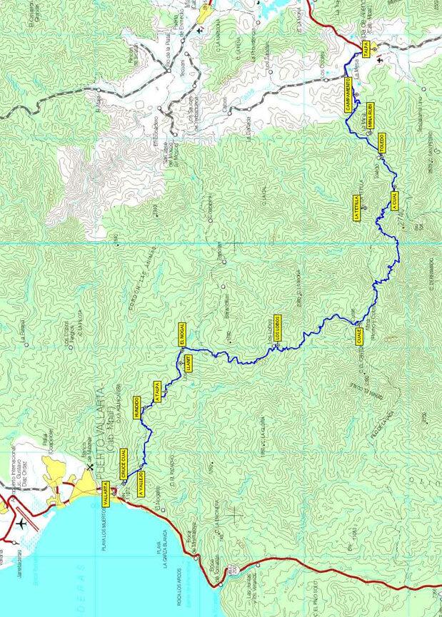 Puerto Vallarta to Talpa Mountain Biking Map