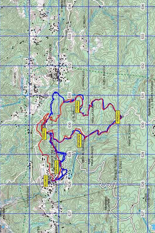 El Chico Mountain Biking Map