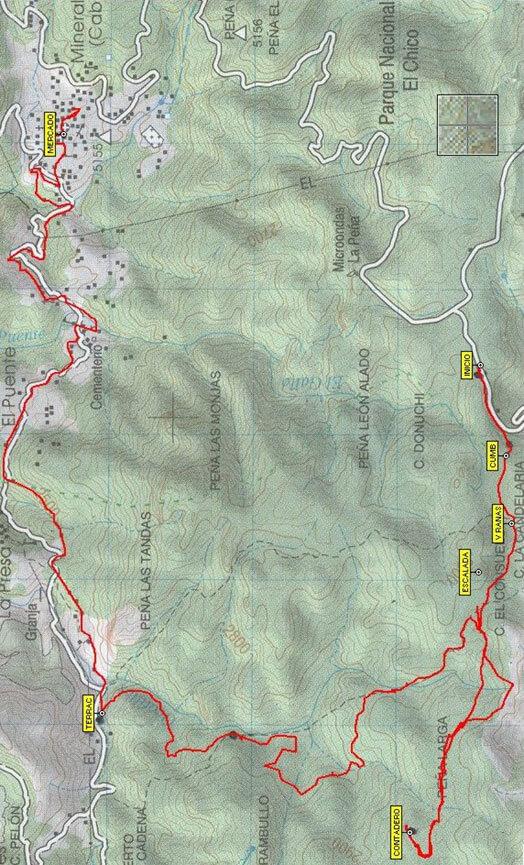 El Contadero Mountain Biking Map