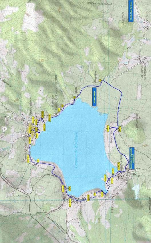 Vuelta al Lago de Zirahuen Mountain Biking Map