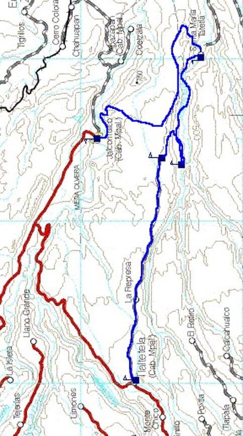 Cotlamani Mountain Biking Map
