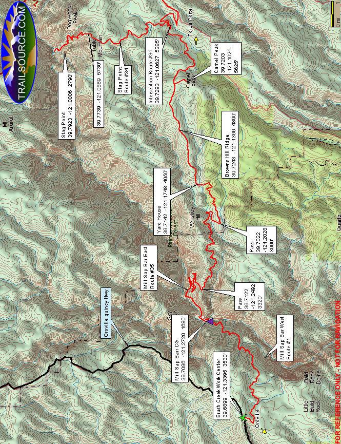 Milsap Bar East ATV Trails Map