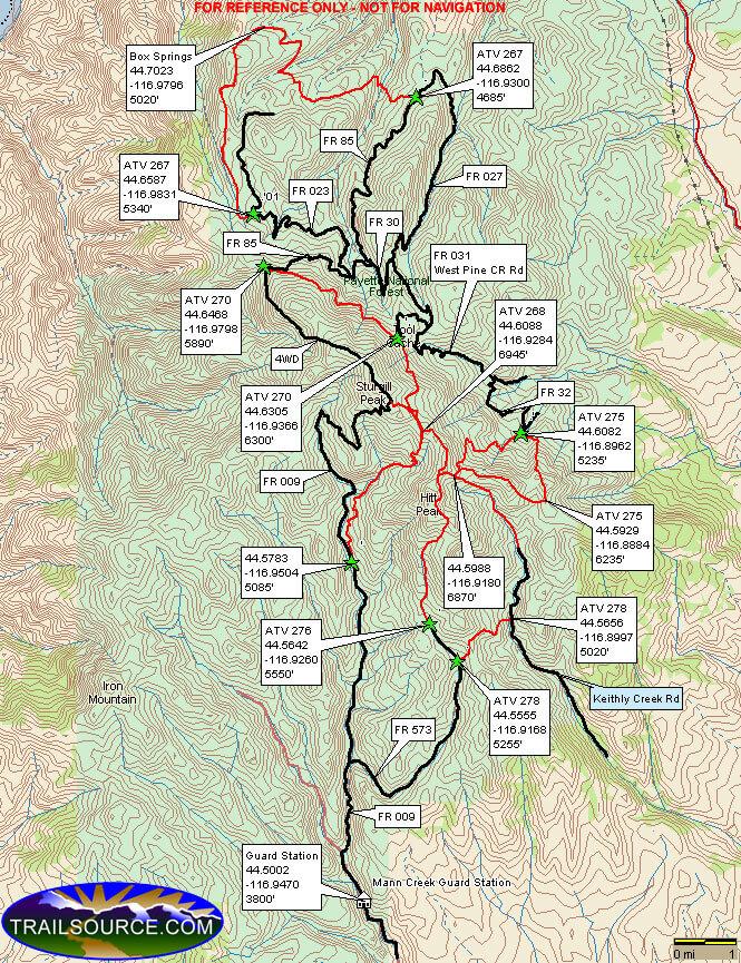 Sturgill Peak ORV Area Dirt Biking Map