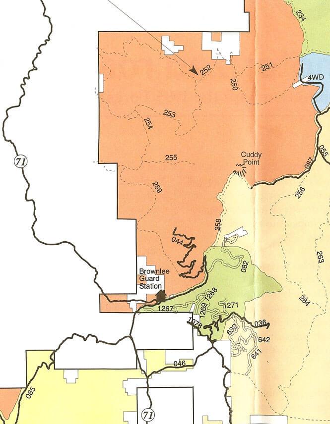 Cuddy Mountain Area Dirt Biking Map