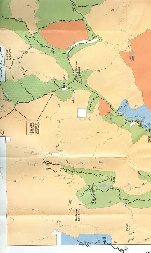 Morgan Lake / Rainbow Lakes ATV Trails Map