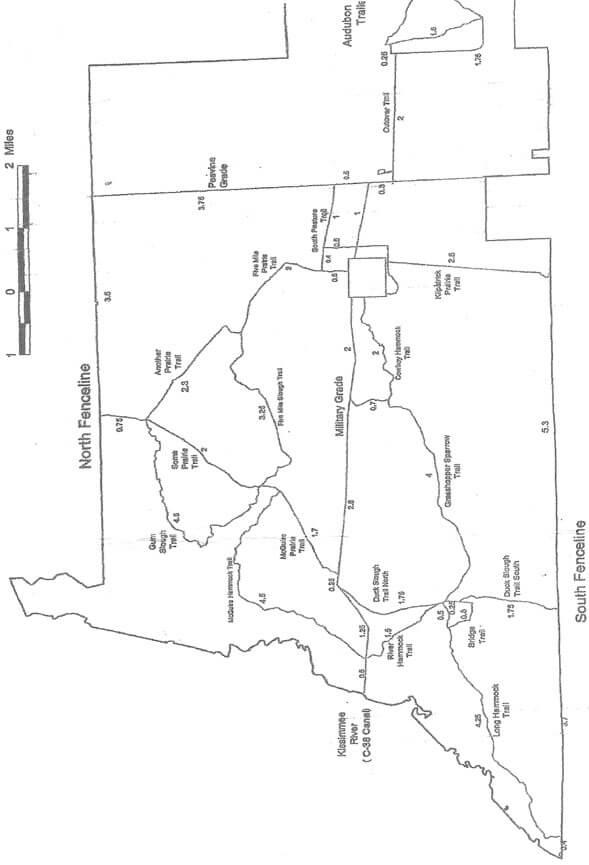 Kissimmee Praire State Preserve Horseback Riding Map
