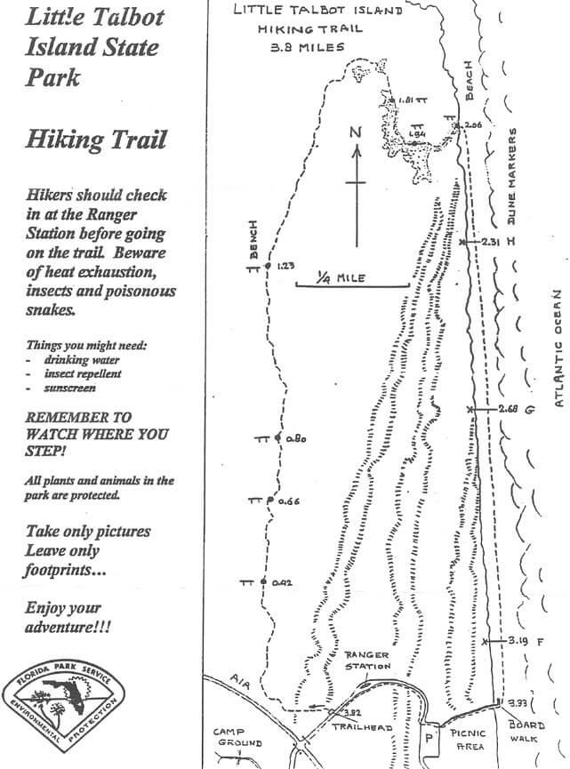 Little Talbot Island State Park Hiking Map