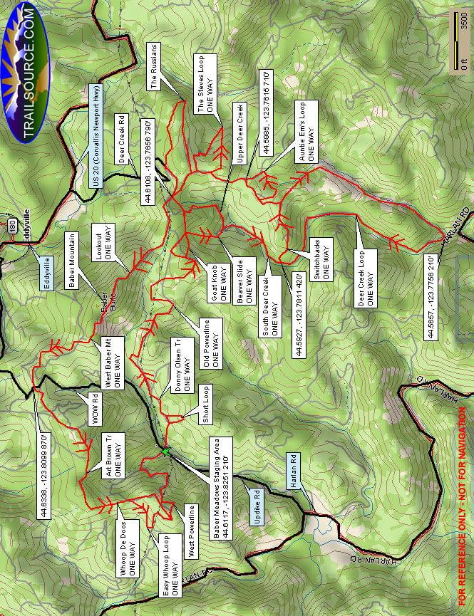 Mt Baber ATV Trails Dirt Biking Map